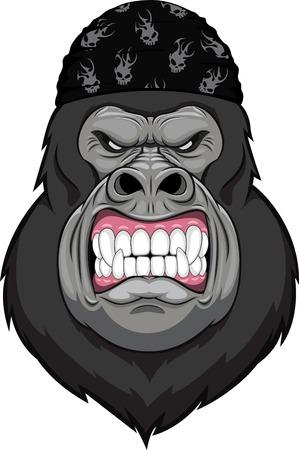 gorila: mono cabeza de la mascota Vectores