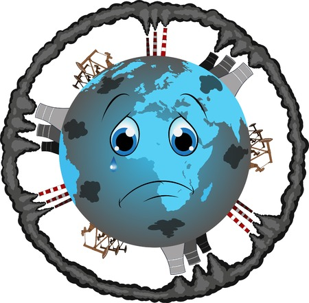 peace pipe: illustration Protect the earth Illustration