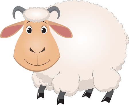 illustration of cartoon baby sheep Vector