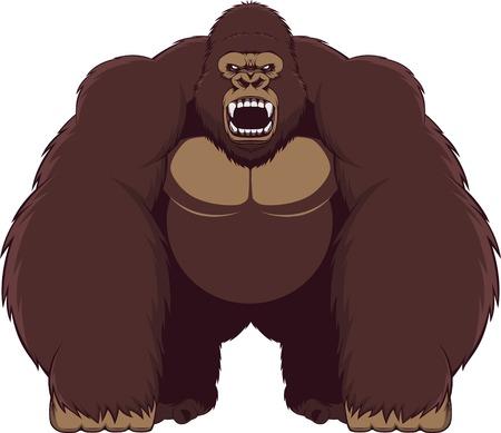 Angry gorilla illustration