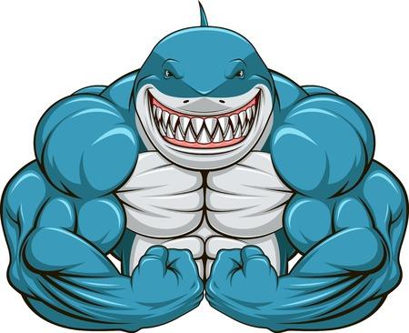 Illustrazione vettoriale, denti di squalo bianco