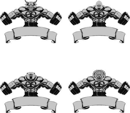 Vector illustration, symbole de la conception pour le bodybuilding et de fitness Banque d'images - 35602576