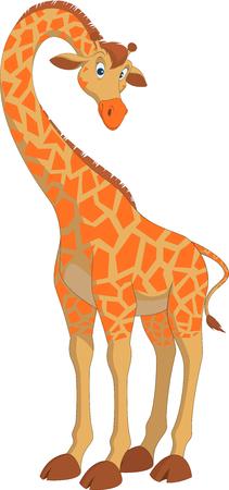 Ilustración del vector, jirafa hilarante divertido sobre un fondo blanco