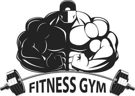 Bodybuilder posing montrant de gros muscles, illustration vektor Banque d'images - 38627789