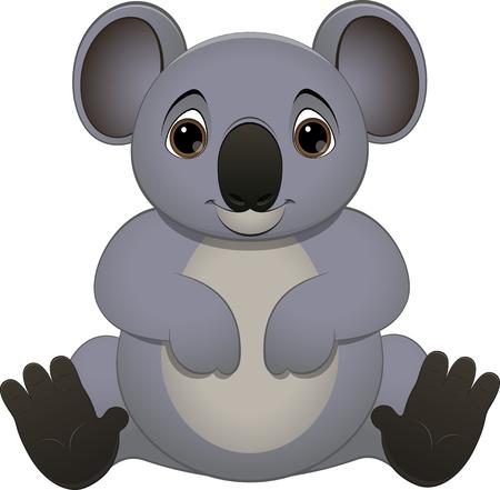 tenacious: illustration cute baby koala on a white background