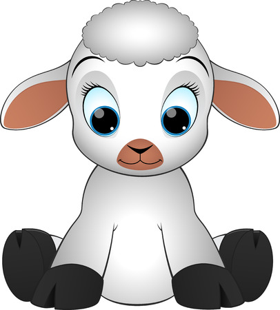 zoological: Lamb on a white background illustration Illustration