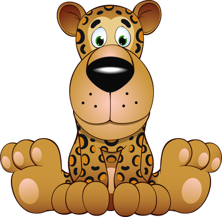 cartoons animals: illustration funny illustration of a leopard