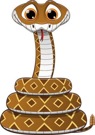 rattlesnake: illustration of a rattlesnake on a white background