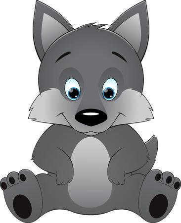 prairie dog: Cute wolf on a white background