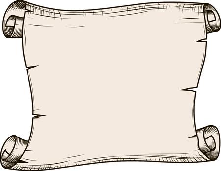 oude krant: Papierrol voor business design, vector illustratie