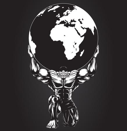 惑星を保持している強者のベクトル図