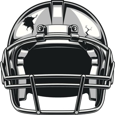 Helm voor het spelen van American football, vector illustratie