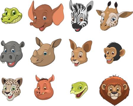 coldblooded: Vector illustration set of funny exotic animals Illustration
