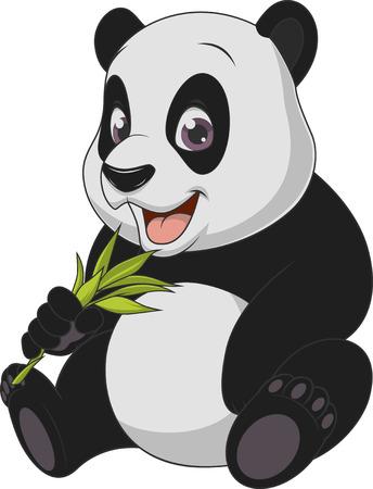 Vector illustration, bébé ours drôle panda, sur un fond blanc.