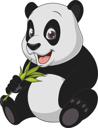baby bear: Vector illustration, baby funny bear panda, on a white background.
