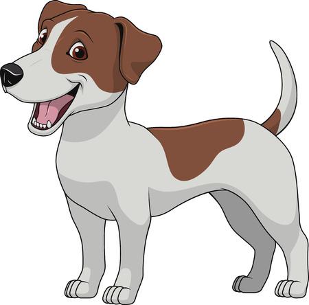 illustratie grappige hond volbloed op een witte achtergrond Vector Illustratie