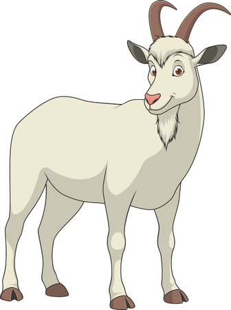 udders: illustration adult funny goat smiling on a white background