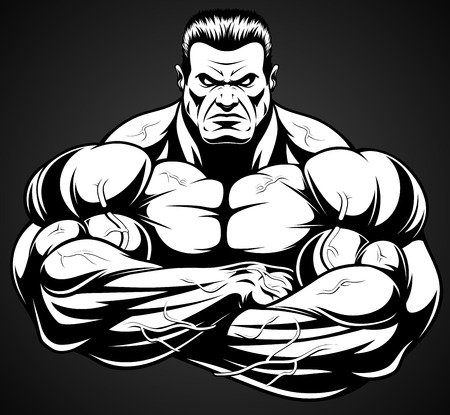 Vektor-Illustration, strenge Trainer Bodybuilding und Fitness Standard-Bild - 68423795