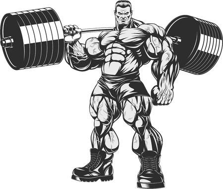 ilustracji wektorowych, ścisłe trener kulturystyki i fitness