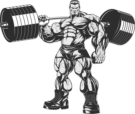bodybuilding: Vector illustration, strict coach bodybuilding and fitness
