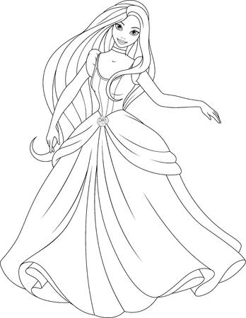 Beautiful fairy princess dancing at the ball.