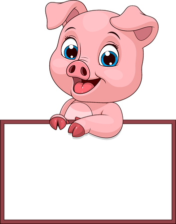 funny cheerful piggy