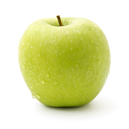 green apple isolated on pure white background