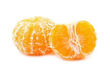 Sweet tangerine isolated on white background Banque d'images