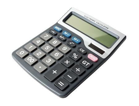 digital calculator isolated on white background photo