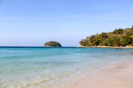 white sand beach: Beautiful landscape Kata Beach Phuket Thailand