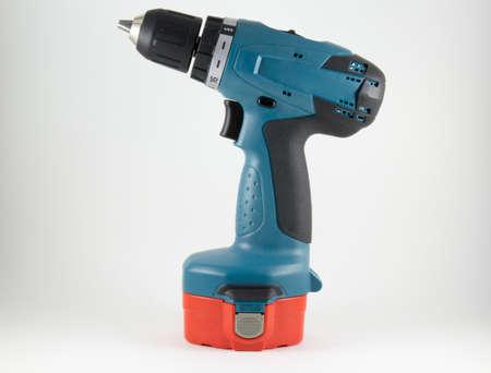 cordless: Cordless screwdriver on a white background Stock Photo