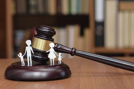 Cour et les droits de la famille et des enfants. Espace juridique enfants. Section des enfants lors d'un divorce. Zone légale des enfants. Droit de la famille, le concept de droit de la famille devant les tribunaux. Banque d'images