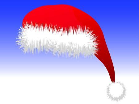 Illustrazione vettoriale di un cappello di Babbo Natale.