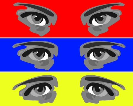 mimicry: Eyes, expressing different emotions