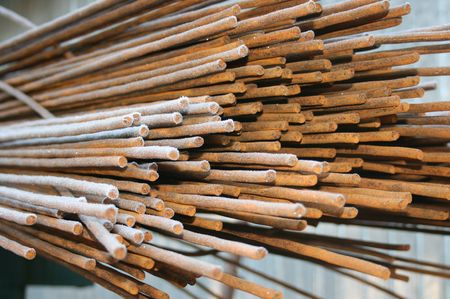 Steel reinforcement rods for the construction industry Stock Photo - 2338579