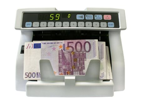 spurious: The detector of banknotes for the count of notes and determination of fake money Stock Photo