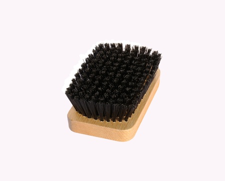 bristle: Clothes Brush with wooden handle and black bristle