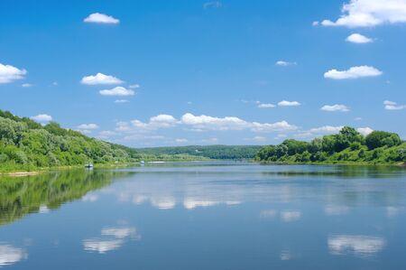 plains: Sunny day on the quiet river plains