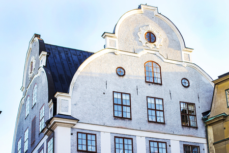 Gamla Stan (Old Town) in Stockholm - view on the roofs of houses Stortorget Square
