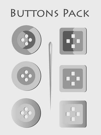set of buttons made in cartoon style