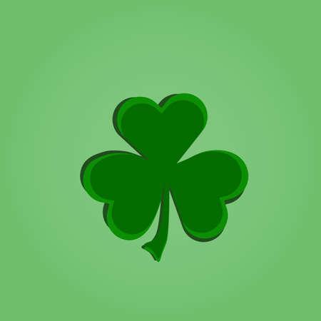 three leafed: Irish shamrock for St Patricks Day