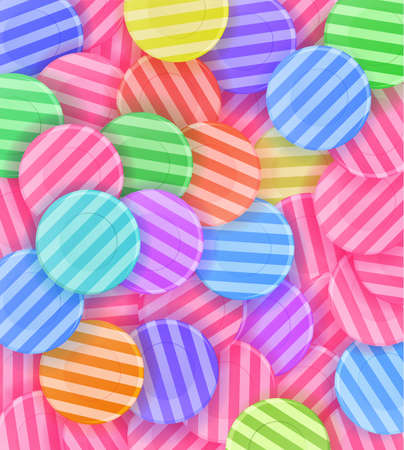 lots: lots of colorful candies. Background. Illustration Illustration