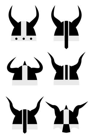 vikingo: Seis vikingo icono velmet negro