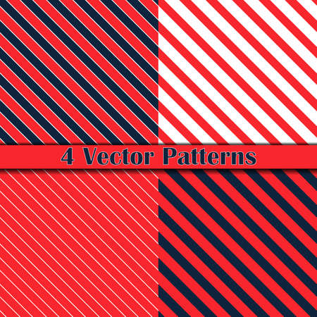 four pattern: four pattern diagonal lines, seamless background