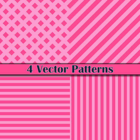 four pattern: Four pattern line pink