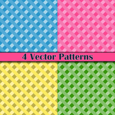 four pattern: Four pattern color romb and square