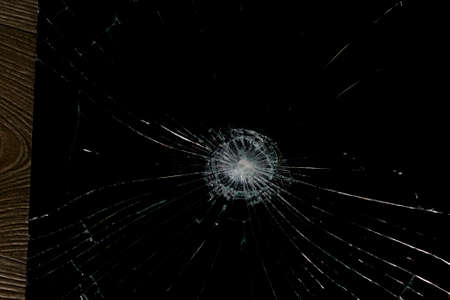 abstraction crack on broken glass and mirror on an isolated background 스톡 콘텐츠