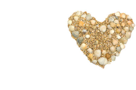 heart for Valentine's day made with your own hands from sea shells