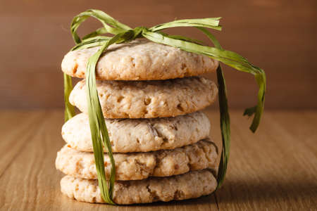 bounded: Bounded Oat cookies on wood table