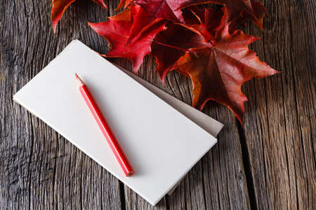 sketchbook: Open sketchbook and pen on weathered table